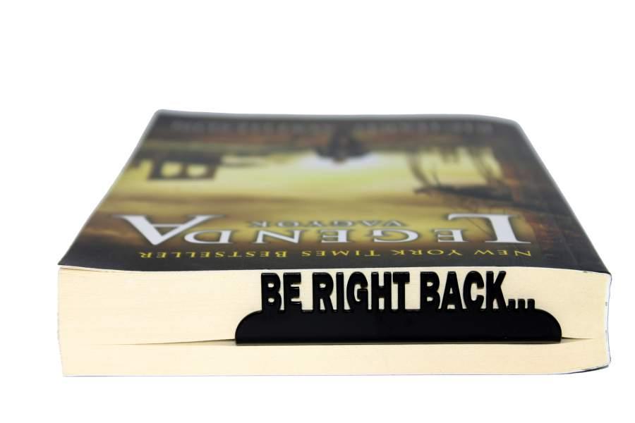 Be right back könyvjelző