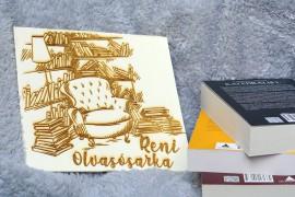 Névre szóló olvasósarok/könyvespolc tábla