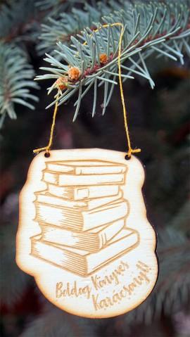 Könyvmoly karácsonyfadísz csomag
