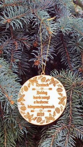 Egyedi, névre szóló karácsonyfadísz könyvmolyoknak