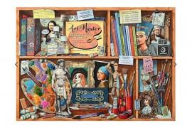 Művész könyvespolca puzzle 1000 db