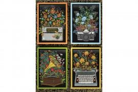 Virágos tárgyak puzzle 1000 db