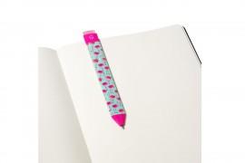 Könyvjelző toll - flamingós