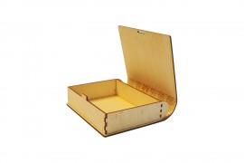 Koszorús könyv doboz dombor mintával